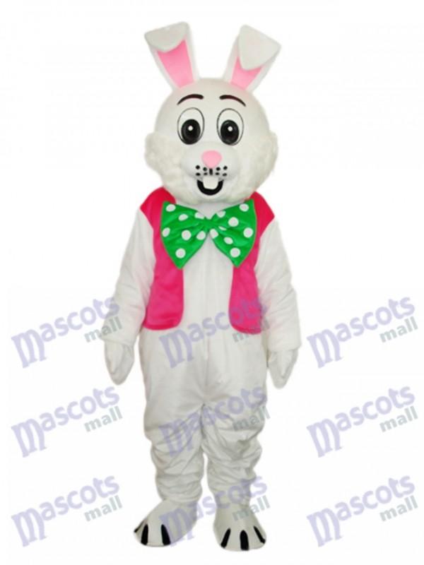Easter Pink Vest Rabbit Mascot Adult Costume
