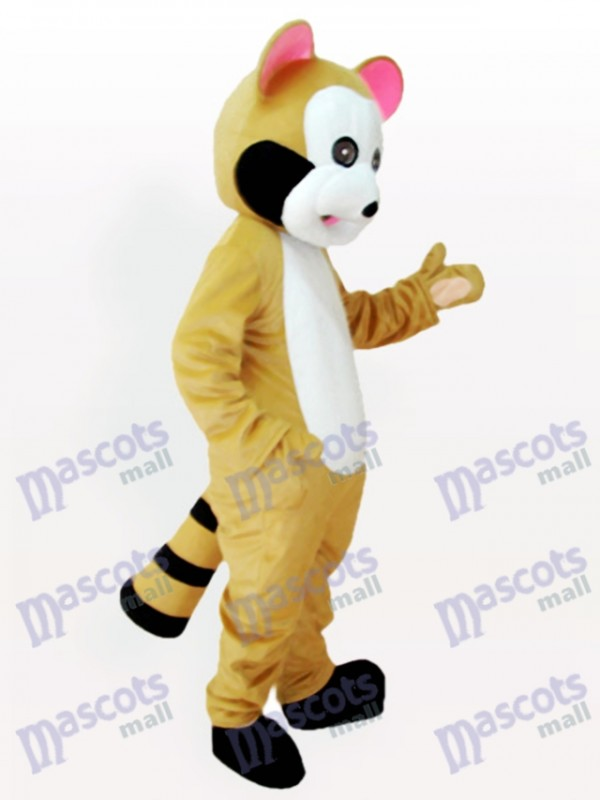 Pink Ears Raccoon Adult Mascot Costume