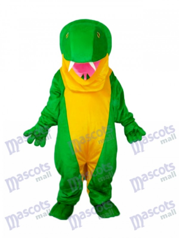 Green Snake Mascot Adult Costume