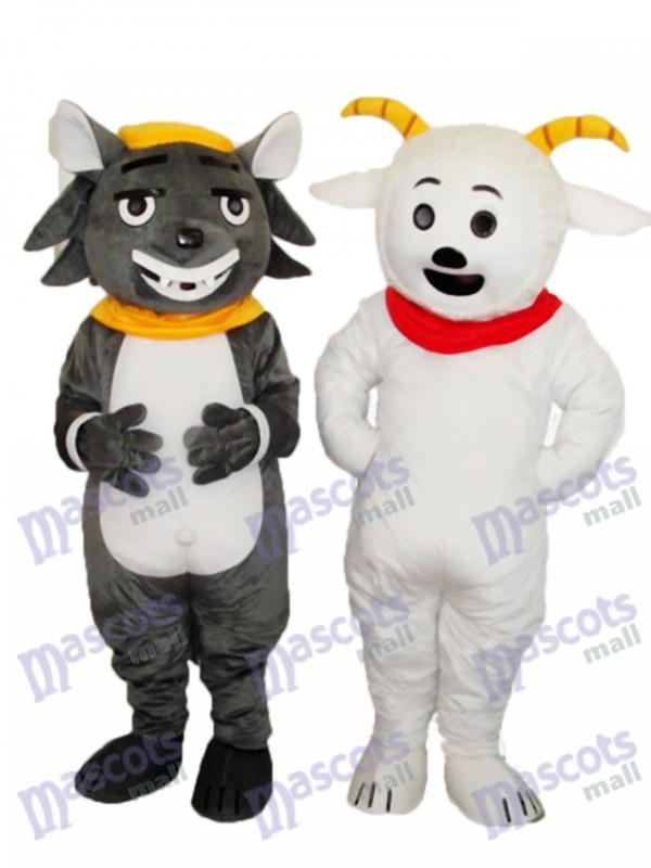 Pleasant Goat & Grey Bad Wolf Mascot Adult Costume