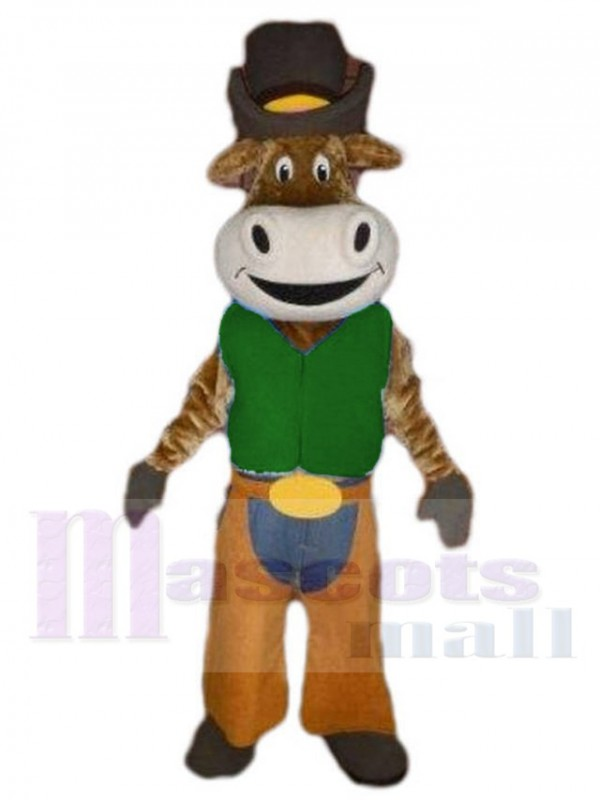 Cowboy Ox Cattle mascot costume
