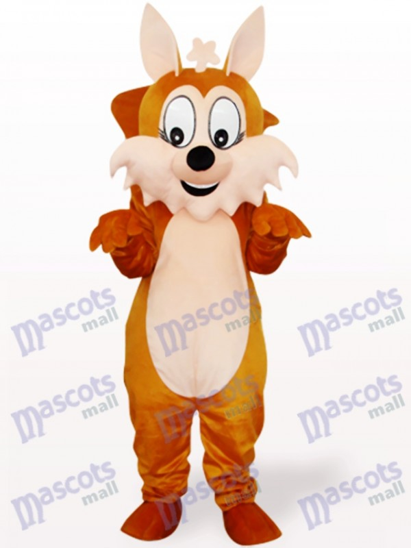Brown Squirrel With Big Tail Animal Adult Mascot Costume