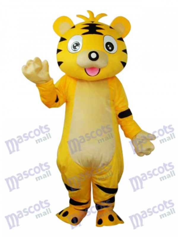 Small Yellow Tiger Mascot Adult Costume