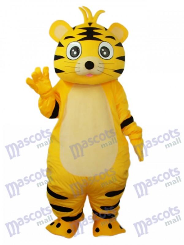 Small Yellow Tiger Mascot Adult Costume