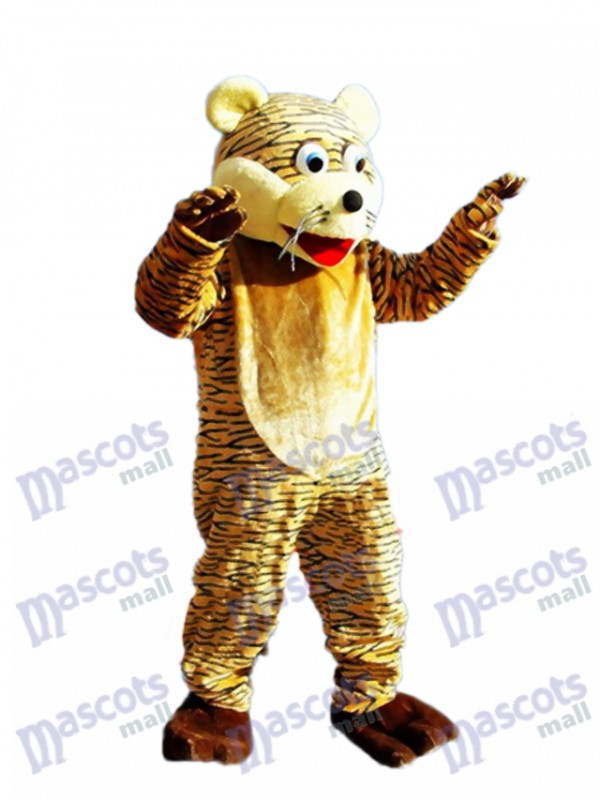 Lucky Tiger Mascot Adult Costume