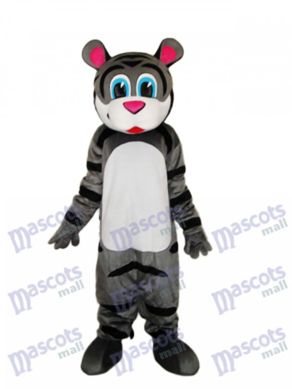 Small Gray Tiger Mascot Adult Costume