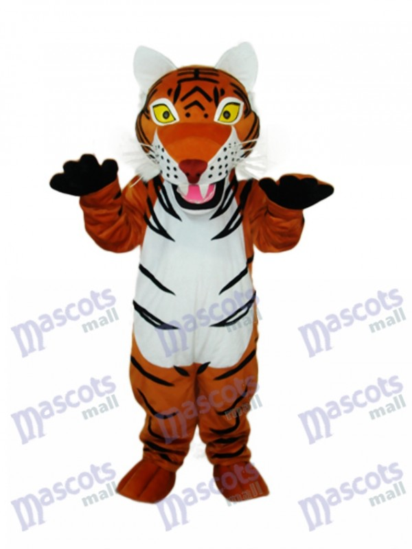 Brown Tiger Mascot Adult Costume