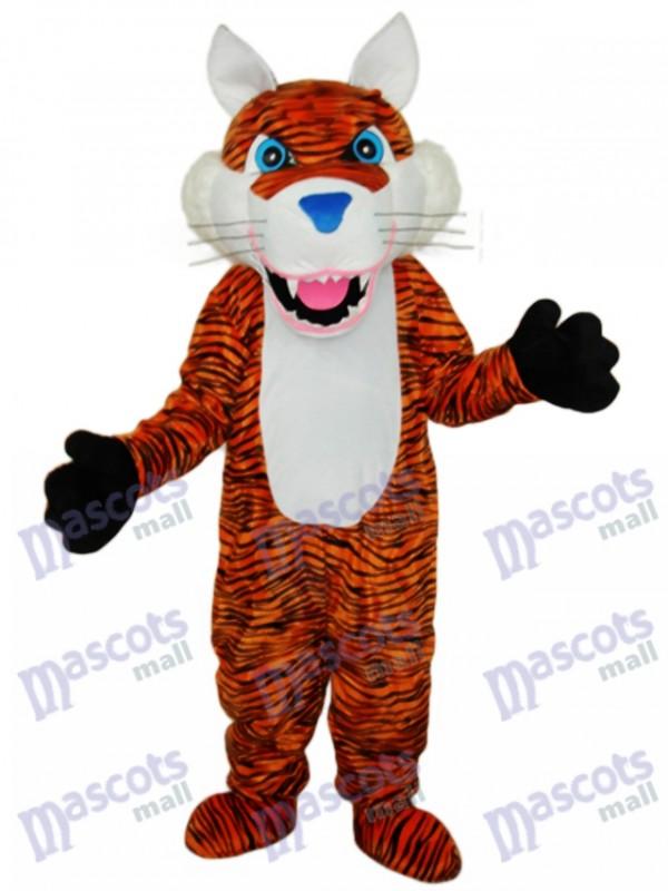 Brown Tiger Mascot Adult Costume