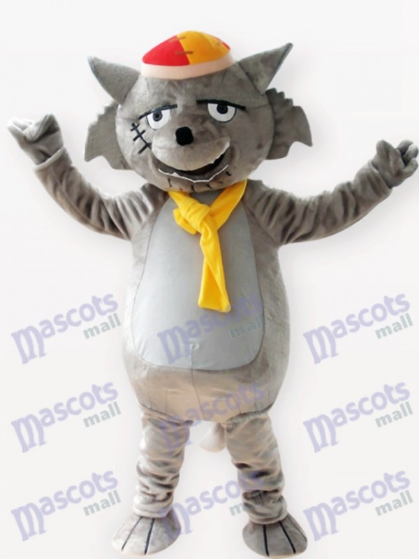 Gray Wolf Animal Adult Mascot Costume