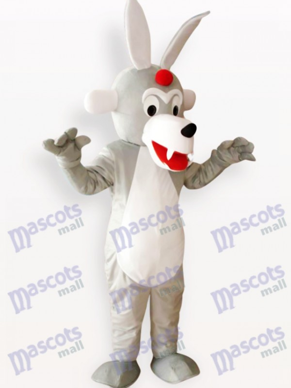 Timber Wolf Animal Adult Mascot Costume