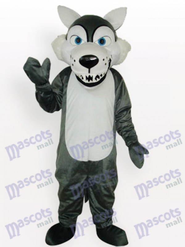 Gray Wolf Adult Animal Mascot Costume