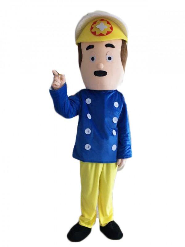 Fireman Sam Look Mascot Costume