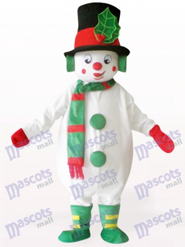 White Snowman Christmas Xmas Mascot Costume