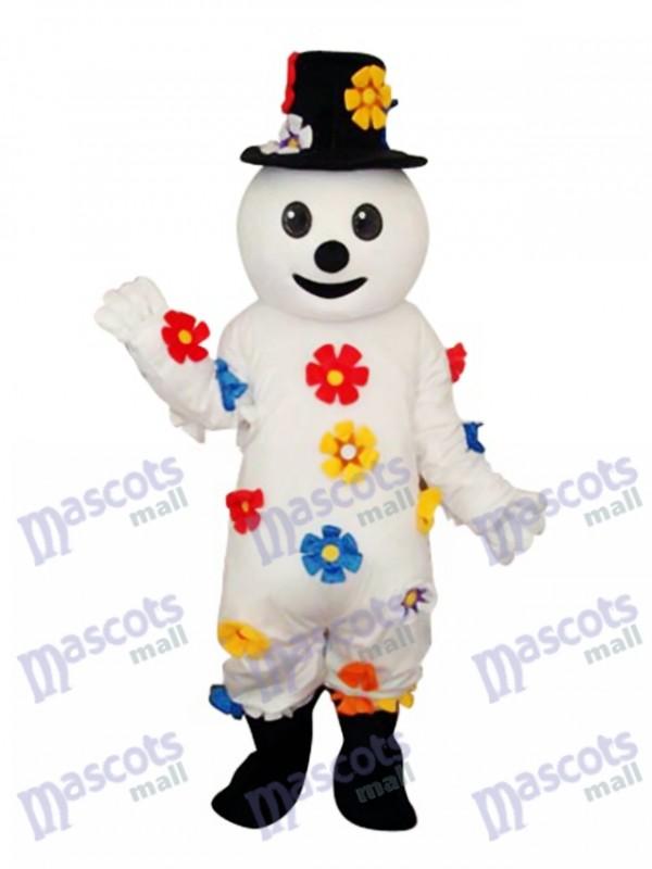 Flower Snowman Mascot Adult Costume