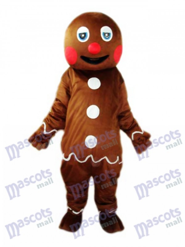 Gingerbread Man Mascot Adult Costume