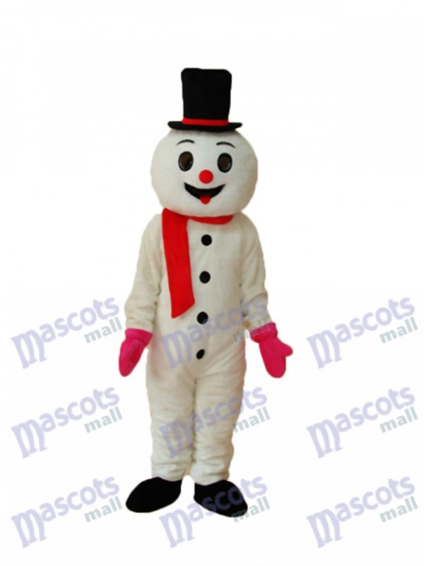 Foam Snowman Mascot Adult Costume